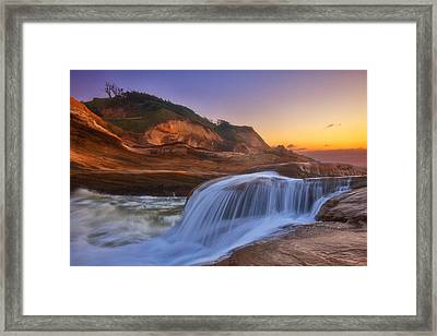 Kiwanda Cascade Framed Print by Darren  White