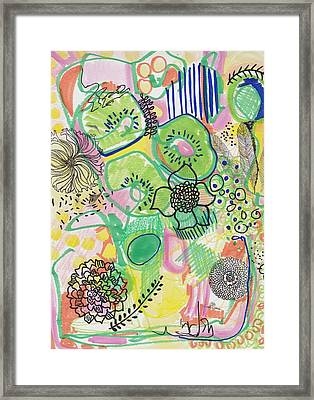 Kiwi Abstract Framed Print