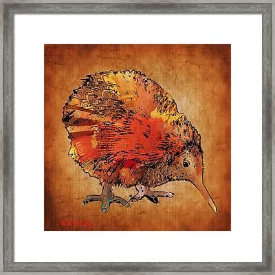 Kiwi Bird Framed Print