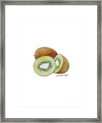 Kiwi Framed Print by Carol Veiga