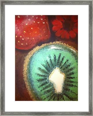 Kiwi Framed Print by Corbin Runnels