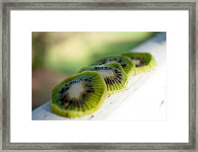Kiwi Four Framed Print by Gwyn Newcombe
