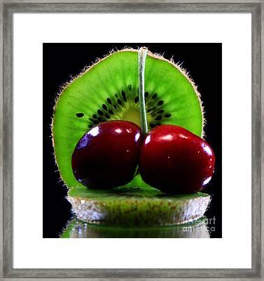 Kiwi Fruit Framed Print by Dipali S