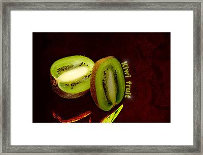 Kiwi Fruit Framed Print by Tommytechno Sweden