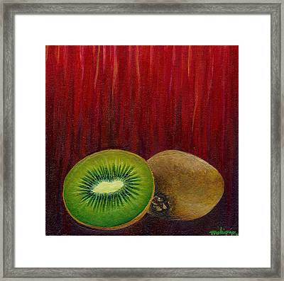 Kiwi Sorbet Framed Print