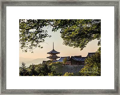 Kiyomizu-dera In Kyoto Japan Framed Print