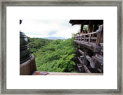 Kiyomizudera Temple Is One Of Kyoto's Framed Print by Paul Dymond