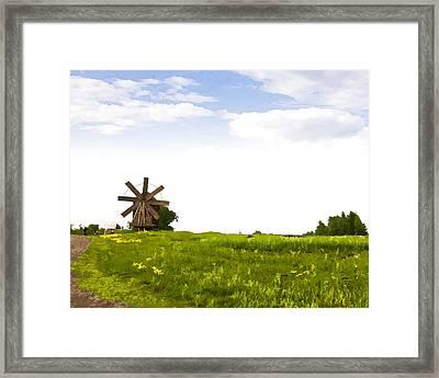 Kizhi Island Windmill Russia Framed Print by Glen Glancy