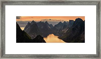 Kjerkfjorden Among Dramatic Mountain Framed Print by Panoramic Images