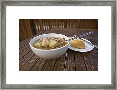 Kjotsupa Traditional Icelandic Lamb Soup Stew  Framed Print by Marianne Campolongo