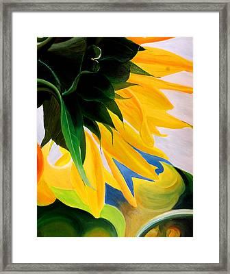Kk's Sunflower Framed Print