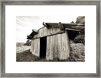 Klamath Plank House - Pov1 Framed Print