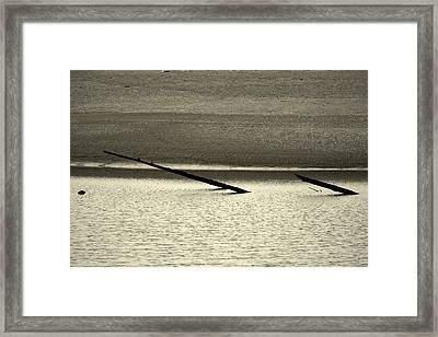 Klamath River Mouth - A Bliss Place Framed Print
