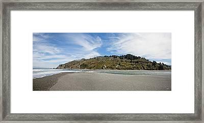 Klamath River Mouth Panorama Framed Print