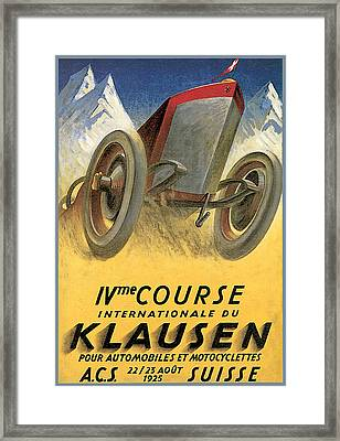 Klausen Automobile Framed Print by Vintage Automobile Ads and Posters
