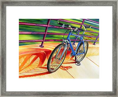 Klein Pulse Comp Framed Print