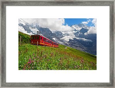 Kleine Scheidegg Framed Print by Bernard Chen