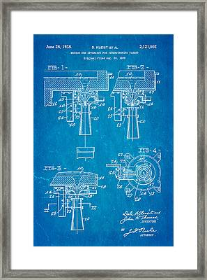 Kleist Fibreglas Patent Art 1938 Blueprint Framed Print by Ian Monk