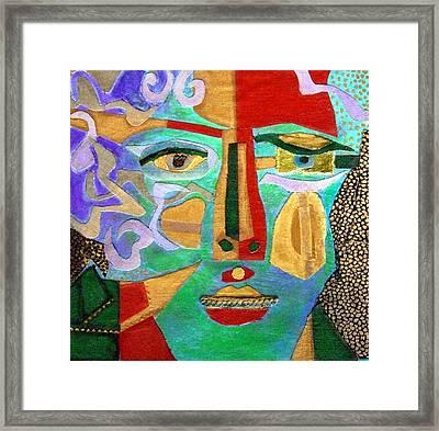 Klimt Face Framed Print