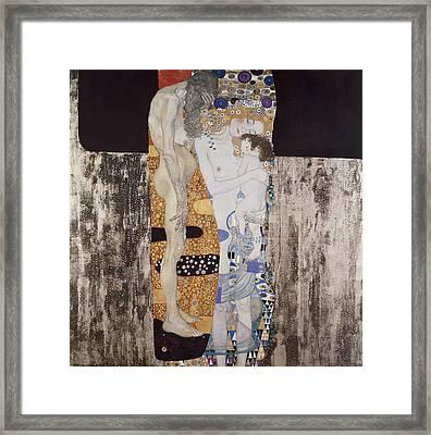 Klimt, Gustav 1862-1918. The Three Ages Framed Print by Everett