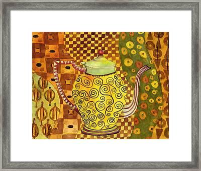 Klimt Style Teapot Blenda Studio Framed Print by Blenda Studio