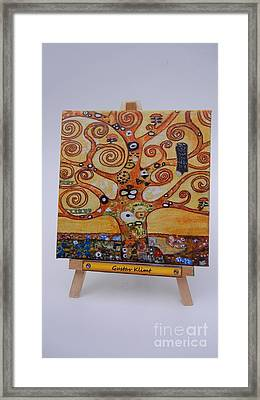 Framed Print featuring the painting Klimt Tree Of Life by Diana Bursztein