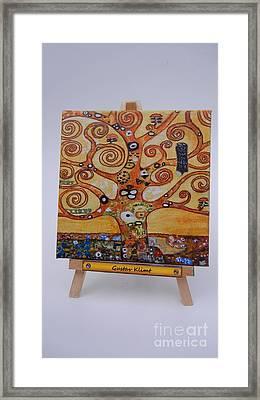 Klimt Tree Of Life Framed Print by Diana Bursztein