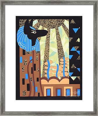 Klimt's Paper Anubis Framed Print by Sarah Durbin