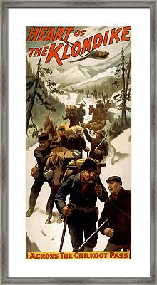 Klondike Chilkoot Pass C. 1897 Framed Print