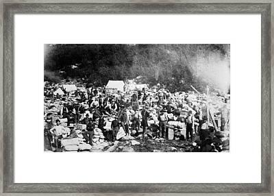 Klondike Gold Rush, 1897 Framed Print by Granger