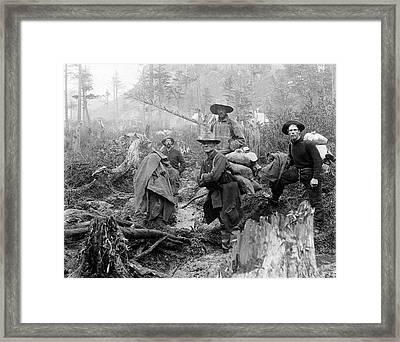 Klondike Gold Rush Miners  1897 Framed Print