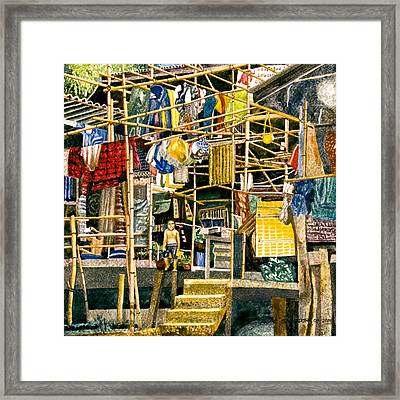 Klong House Framed Print
