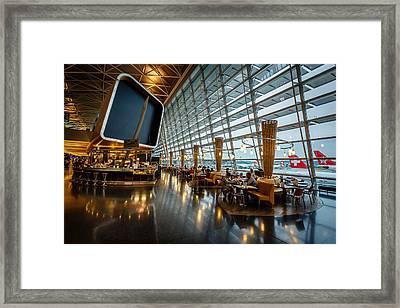 Kloten Airport Interior In Zurich Switzerland Framed Print