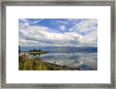 Framed Print featuring the photograph Kluane Reflections by Cathy Mahnke