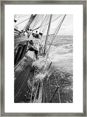 Knee Deep Framed Print