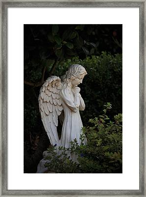 Kneeling Angel Framed Print by Kathleen Scanlan