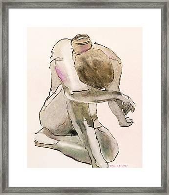 Kneeling Nude Framed Print
