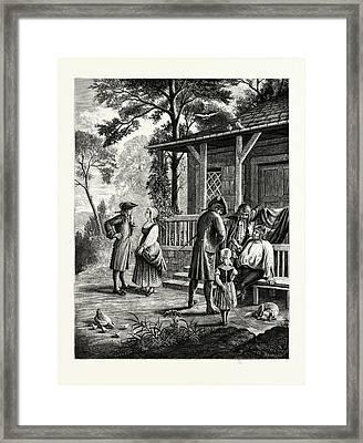 Knickerbocker Days Framed Print by American School