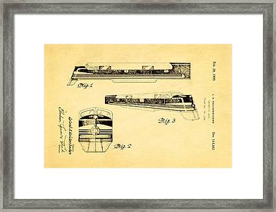 Knickerbocker Locomotive Patent Art 1939 Framed Print by Ian Monk