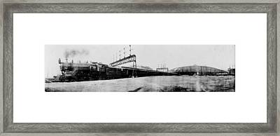 Knickerbocker Special Leaving St. Louis Union Station Framed Print by Georgia Fowler