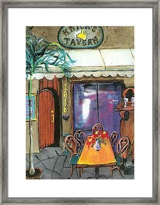 Knicks Tavern Framed Print by Lyla Mitchell