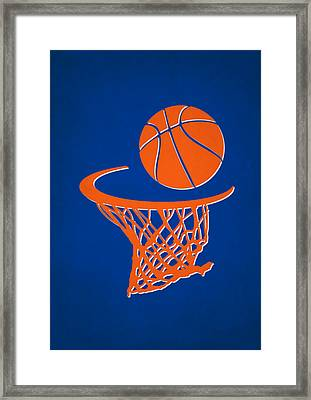 Knicks Team Hoop2 Framed Print
