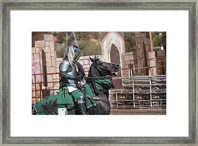 Knight And His Horse Framed Print