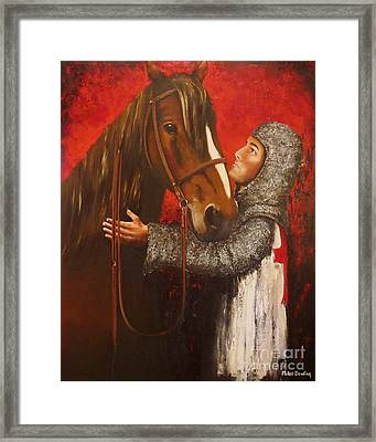 Knight And Horse Framed Print