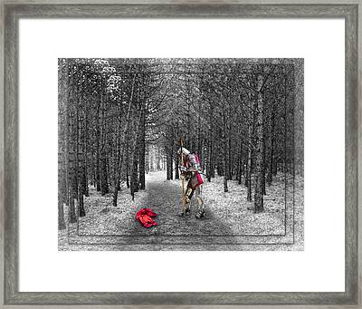 Knight And The Maiden Framed Print
