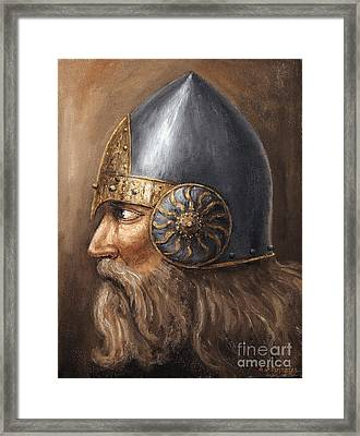 Framed Print featuring the painting Knight by Arturas Slapsys