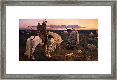 Knight At The Crossroads Framed Print by Mountain Dreams