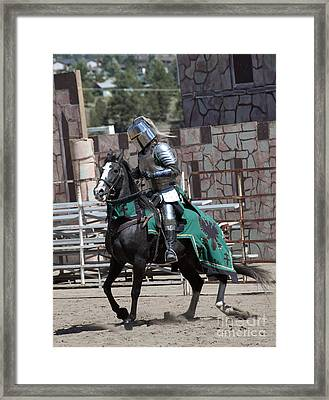 Knight In Shining Armor Framed Print by Juli Scalzi