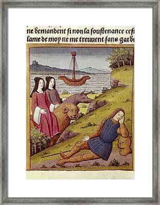 Knight Percival Dreams About Two Women Framed Print