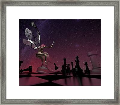 Knight Takes Bishop Framed Print